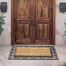 Border Moulded Coir and Rubber Door Mat