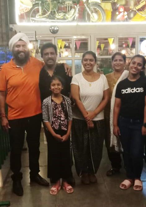 Playback Singer Sudeep Kumar & Family at Sethi Da Dhaba