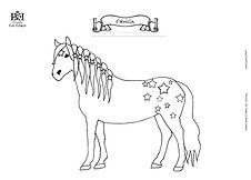 Ausmalbild Malvorlage Haflinger Stute Pferd Pony Estrella