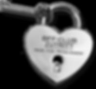 Schlüssel und Herzschloss Schloss Zutritt mit Code zum BFF-Club