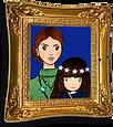 Fotorahmen gold Prinzessin Eva Europa und Nanny Nancy Goodnight