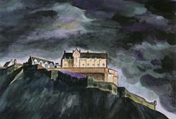 Edinburgh Castle, stormy sky