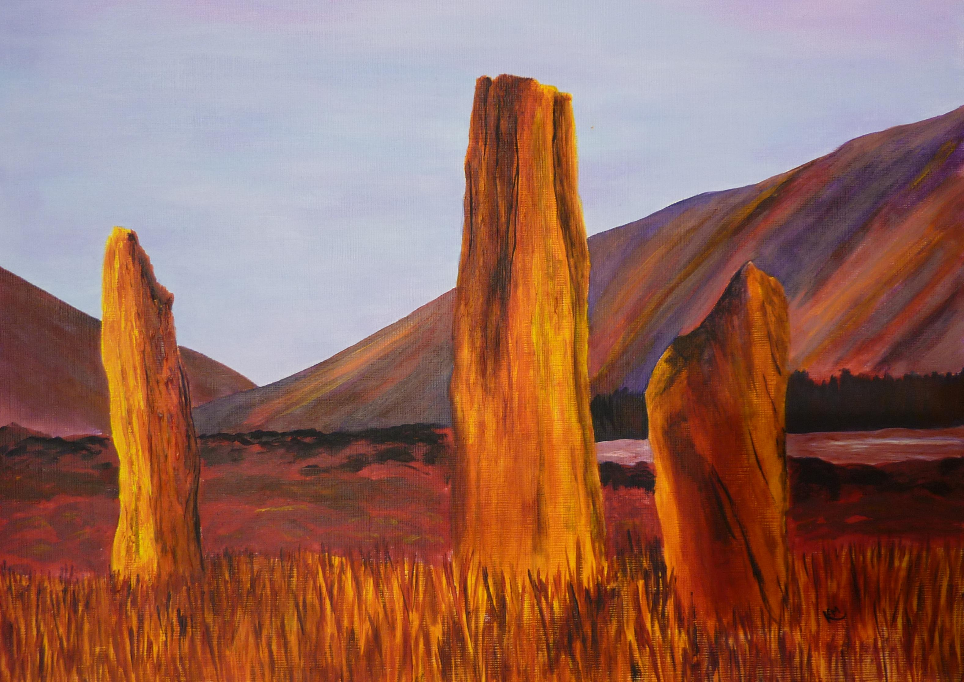 Standing stones on Machrie Moor,
