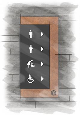 Schetsfase - Toiletaanduiding