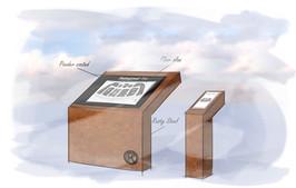 Schetsfase - Plattegrond en brochurehouder