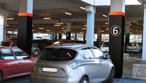 Visualisatie bewegwijzering parkeergarage