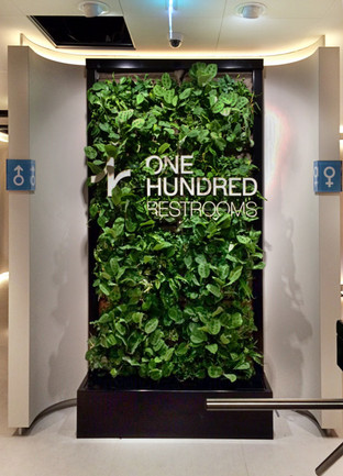 One hundred restrooms - Logo en bewegwijzering