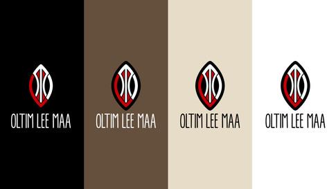 Logo verticaal op achtergrondkleur