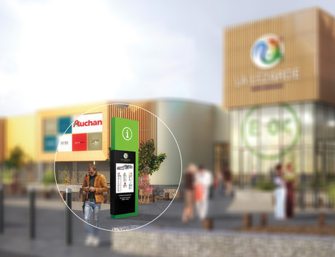 Visualisatie hoofdingang winkelcentrum