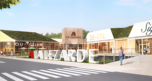 Voorstel belettering ingang winkelcentrum