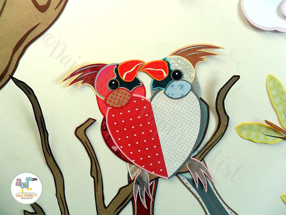 Cardinal birds detail