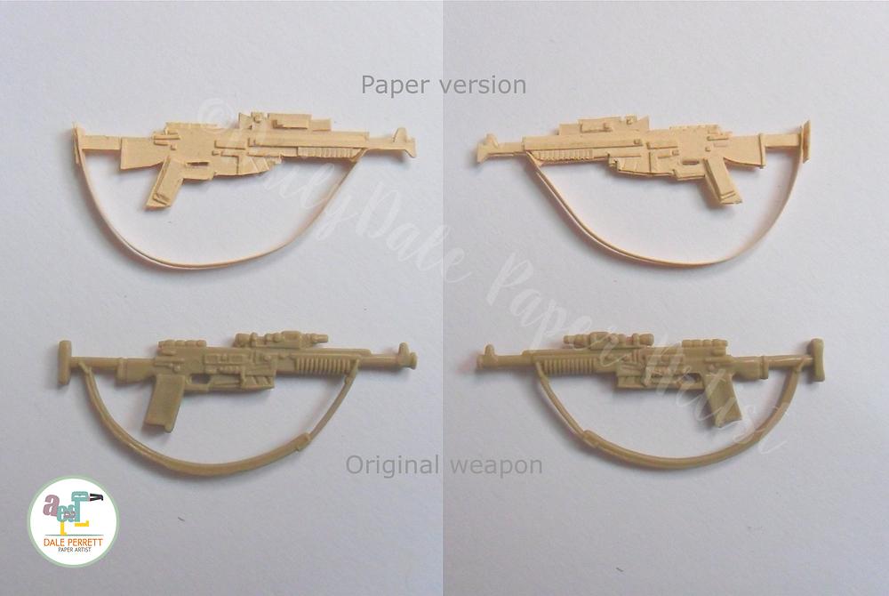 Vintage Endor Rebel paper rifle