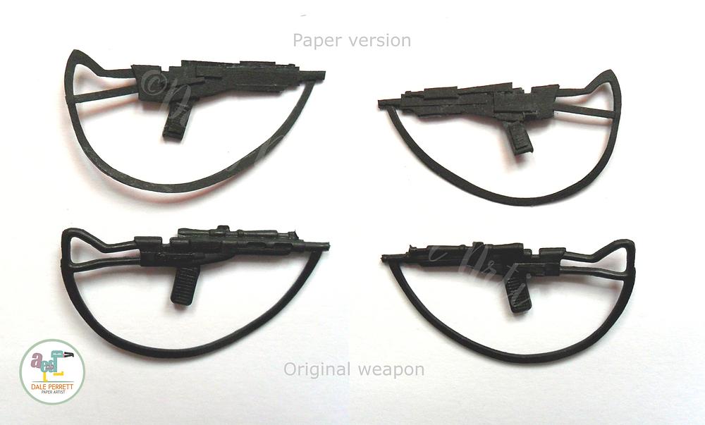Vintage AT-AT driver paper rifle