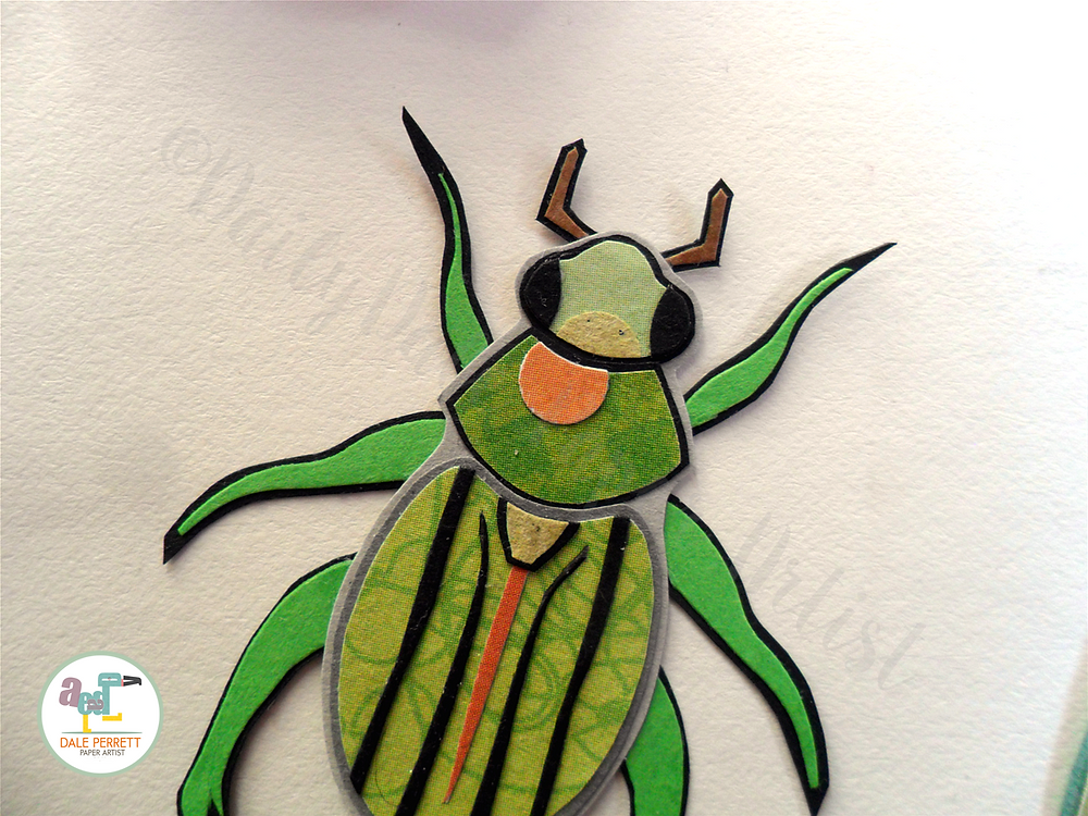 Paper Glorious beetle detail