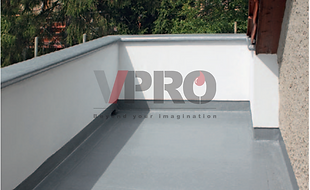 Enke's Enkopur hand-applied liquid system provides waterproofing for balcony