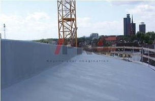 Enke's Enkryl hand-applied liquid system, is ideal for sloping roofs restoration.