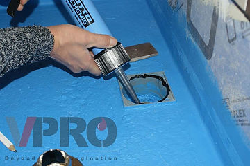 Applying OTTOCOOL M500 for waterproofing