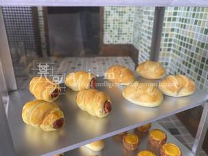 sausage buns, cocktail buns and egg tarts