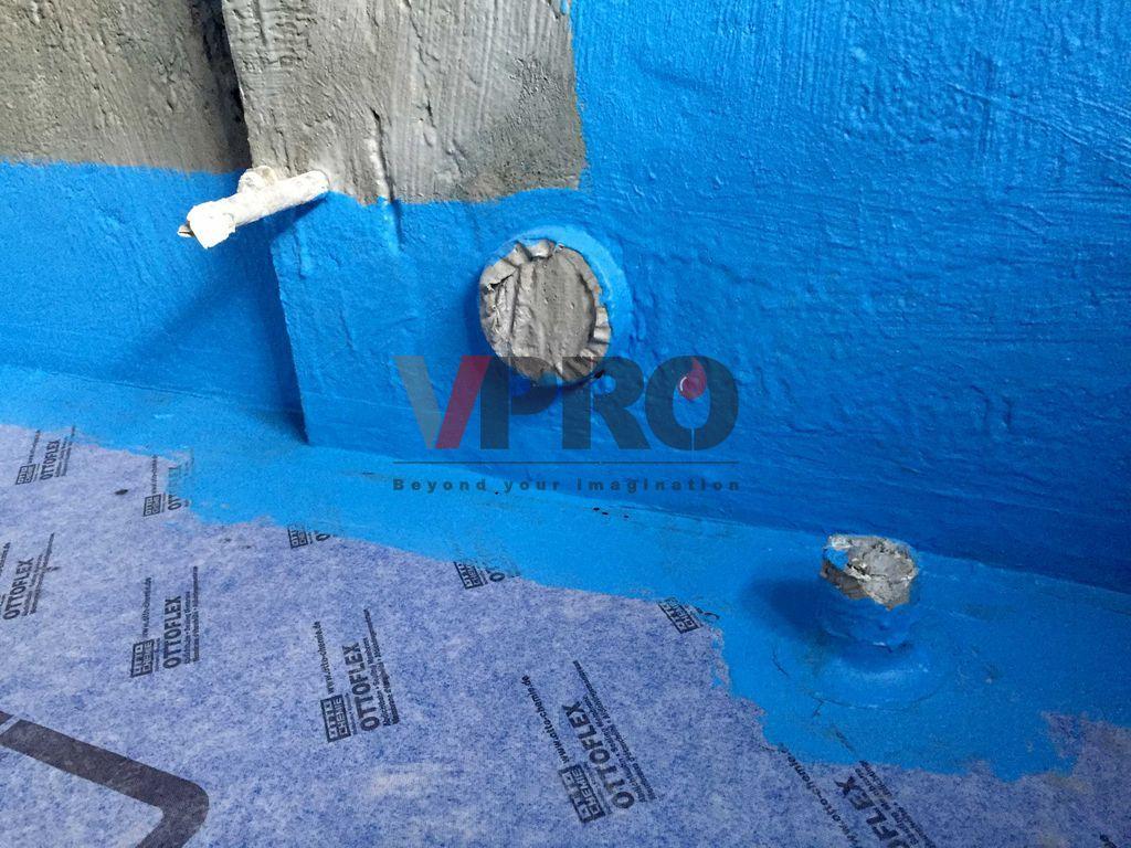 浴室防水 etroom waterproofing by V-PRO Construction Material Ltd.