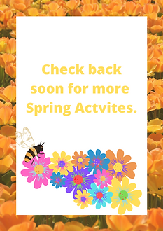Check back soon for more Spring Actvites