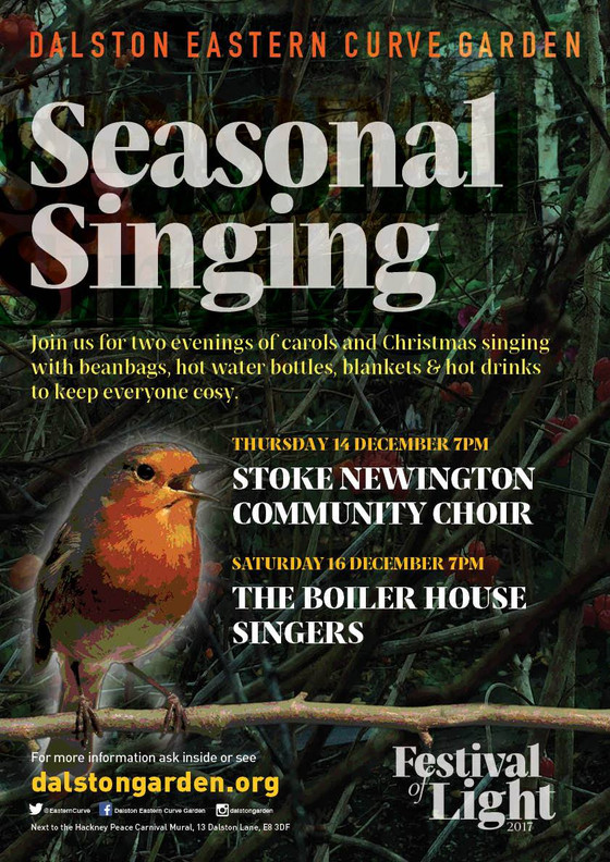 Join us for Christmas singalong at Dalston Curve Garden!