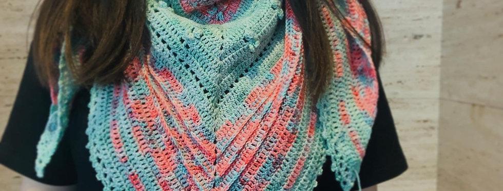Psychedelic Shrubs Shawl Crochet Pattern pdf