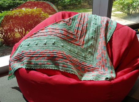 4 days crochet – Psychedelic Shrubs shawl pattern