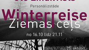 """Winterreise"" - contribution to artist group KONTEKST exhibition in Silkeborg and Aalborg. 2012"