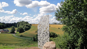 Lyngå village sculpture.