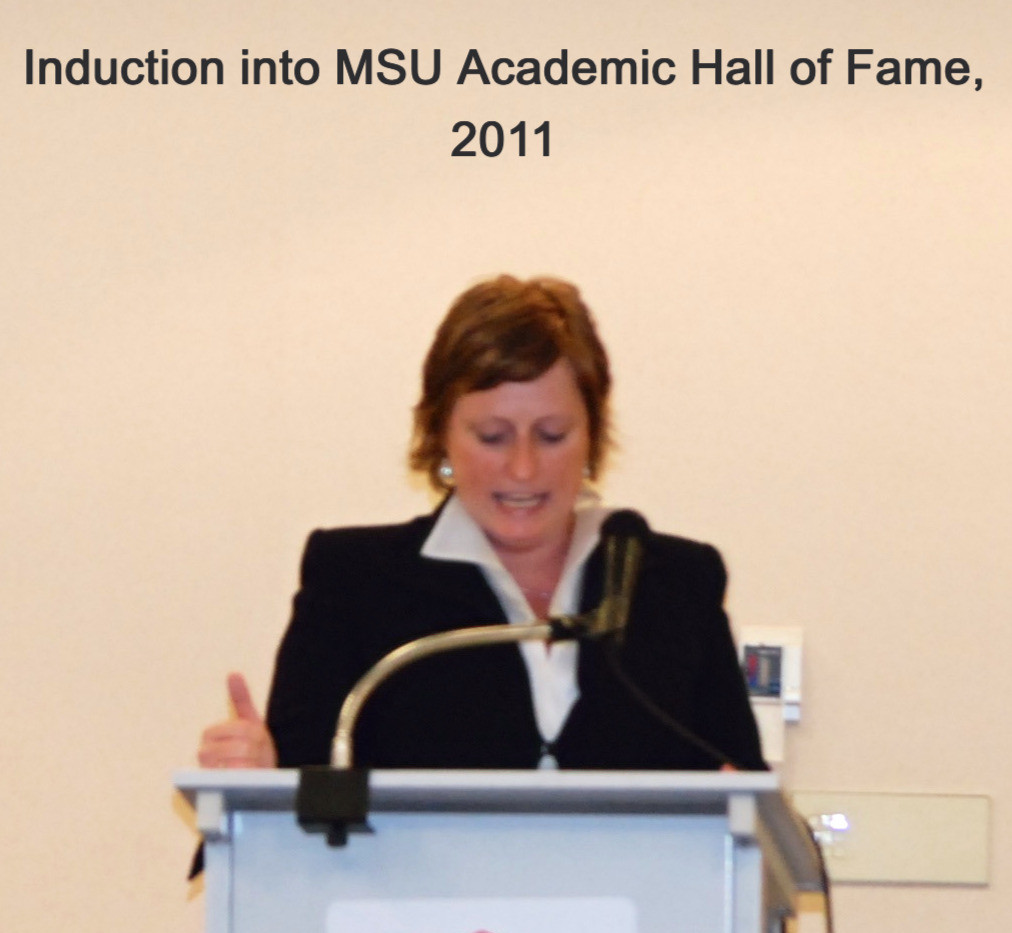 at MSU Academic Hall of Fame, 2011