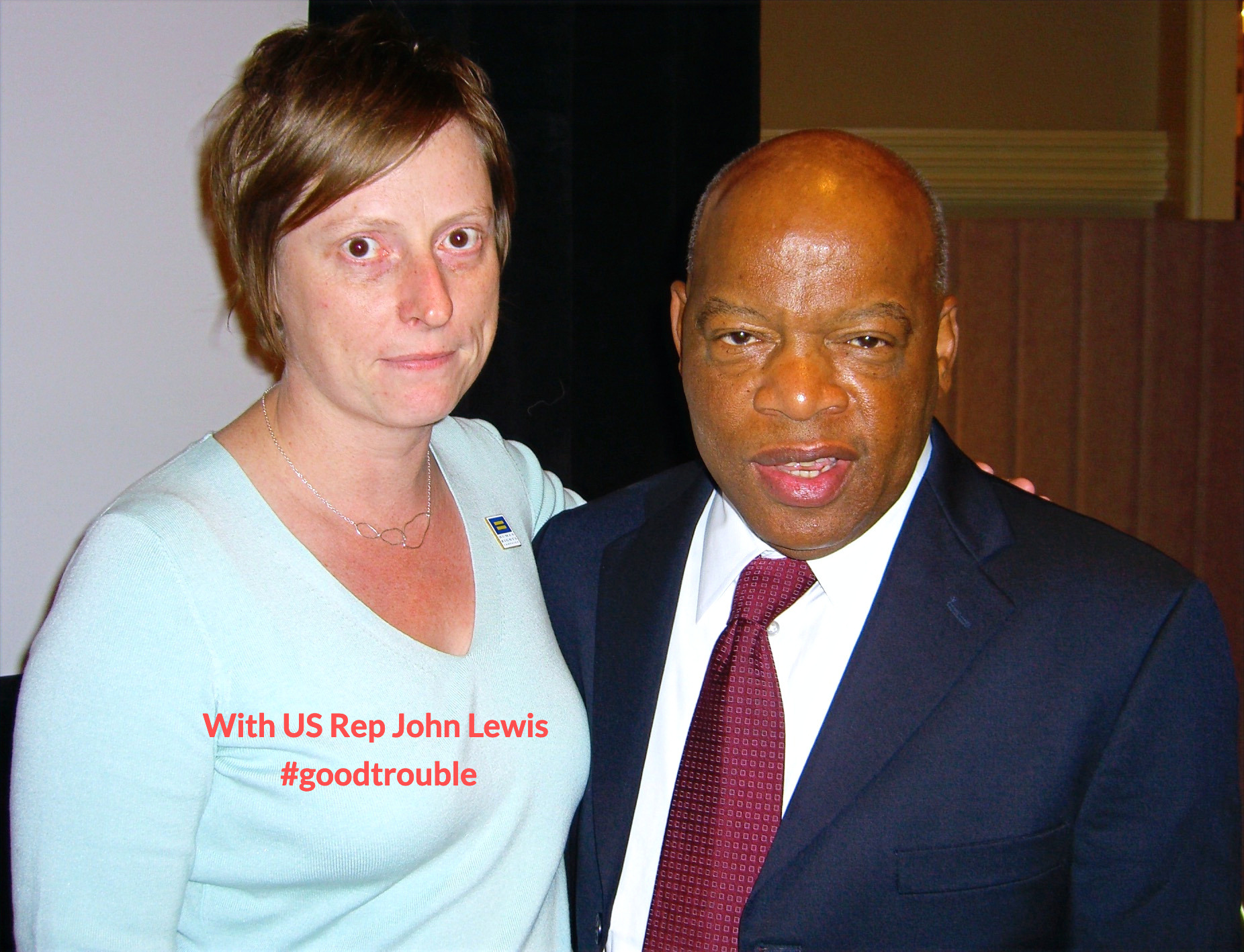 with U.S. Rep John Lewis