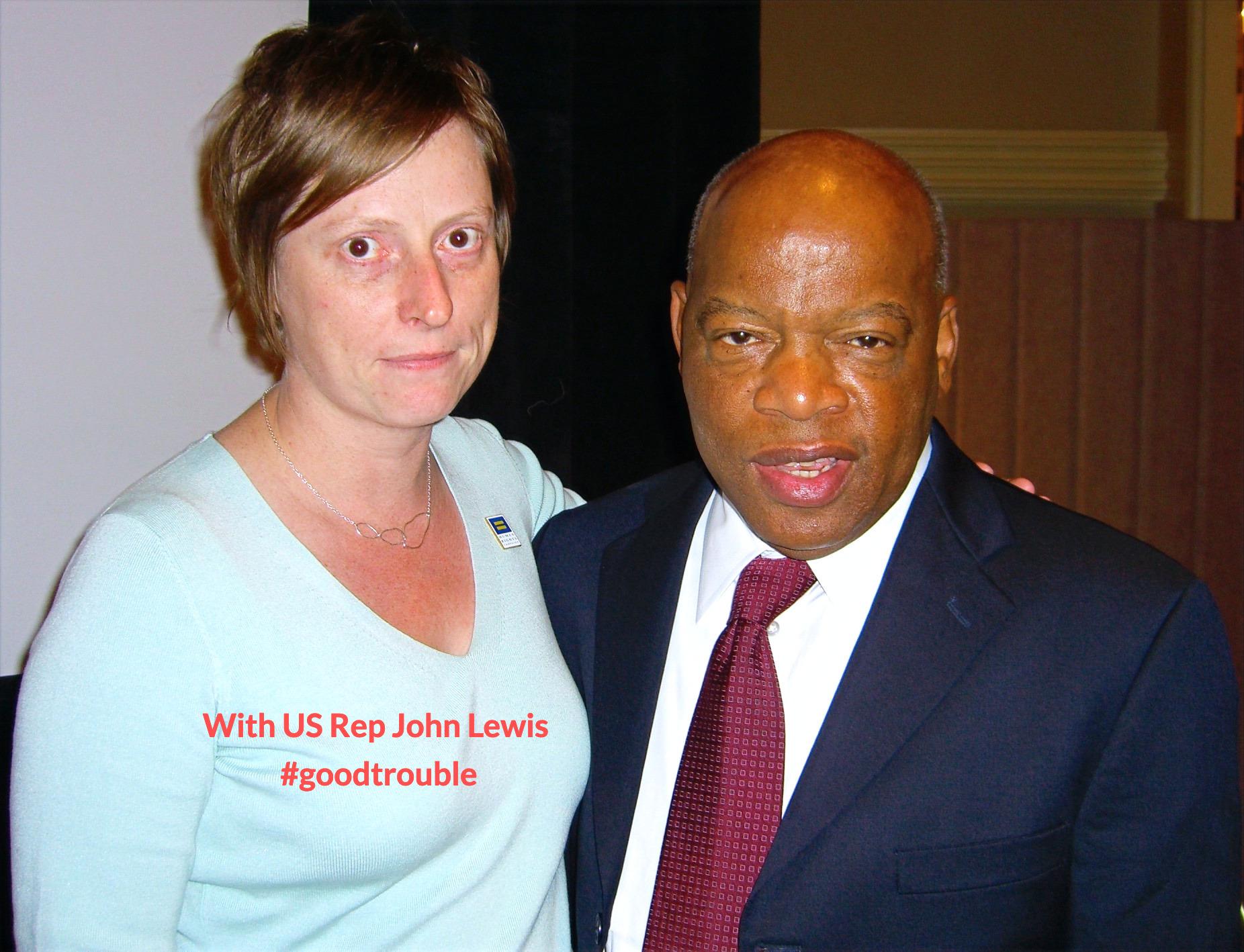 with U.S. Rep John Lewis