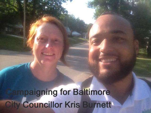 with Baltimore City Council Member Burnett