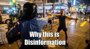 Truth behind this disinformation photo taken on 25 Aug Tsuen Wan.