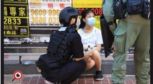 How HK rioters using kids to transport petrol bombs have led to the 12yo runaway's arrestment?