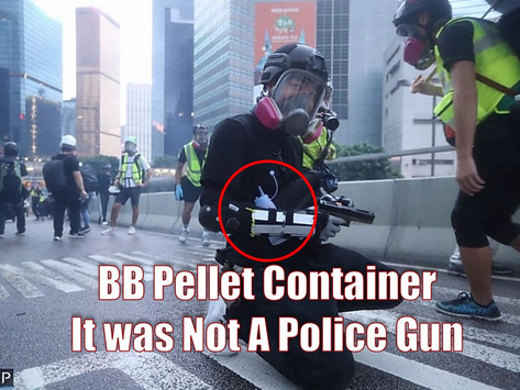 HK Police did not send undercover officers to throw petrol bombs in protests.