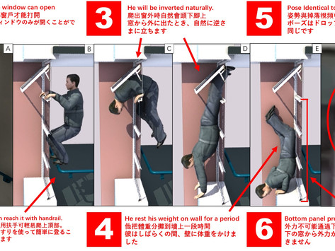 3D Reconstruction  of the 1.13 Yau Tong Falling Man Suicide / Accident