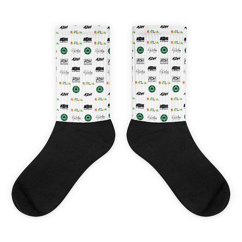 Scattered Logo Socks
