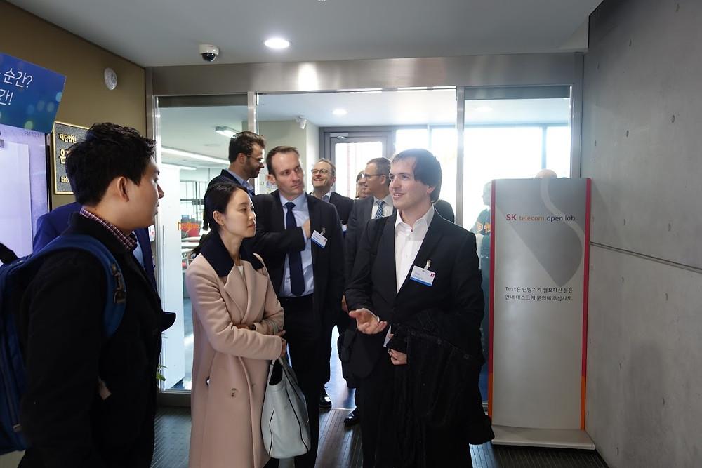 Belfius Bank & Insurance executives visiting D.CAMP
