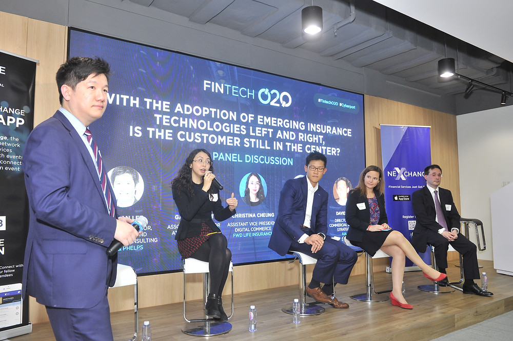 Lapman Lee on his feet as Christine Cheung of FWD gets on the mic