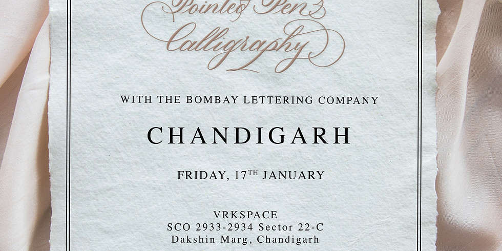 Introduction to Pointed Pen Calligraphy - Chandigarh