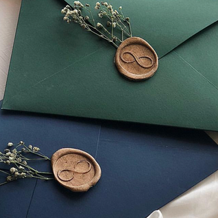 Wax Seal Stamps on Envelopes - The Bombay Lettering Company