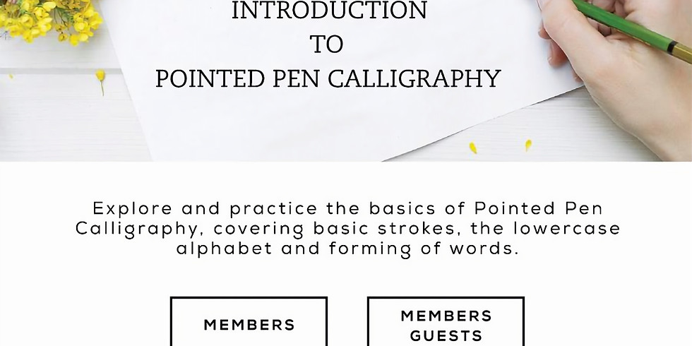 Introduction to Pointed Pen Calligraphy - Gurgaon (11am-2pm)