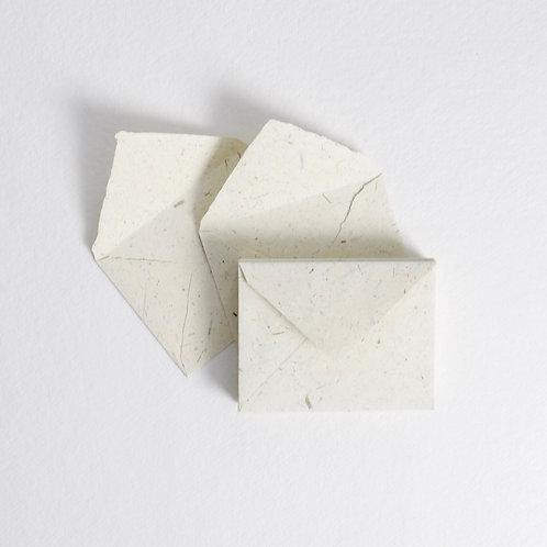Ivory & Straw Handmade Deckle Edged 4 Bar Envelopes - Pack of 5