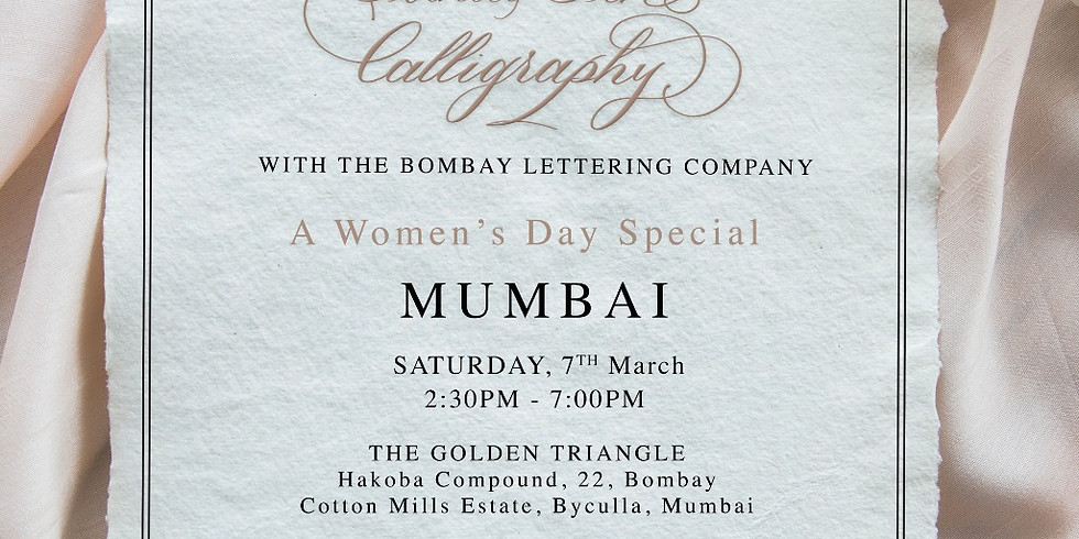 Introduction to Pointed Pen Calligraphy - Women's Day Special
