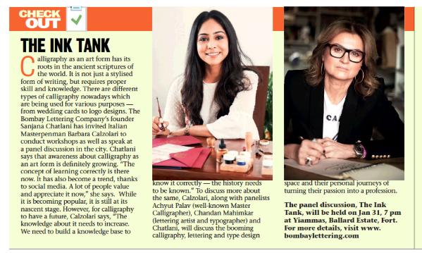 Mumbai Mirror. The Bombay Lettering Comp