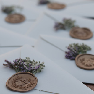 Wax Seal Stamped envelopes - The Bombay Lettering Company