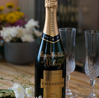 Gifting - Personalised message on Wine Bottle - The Bombay Lettering Company