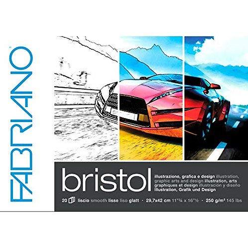 Fabriano Bristol Glued Block A3