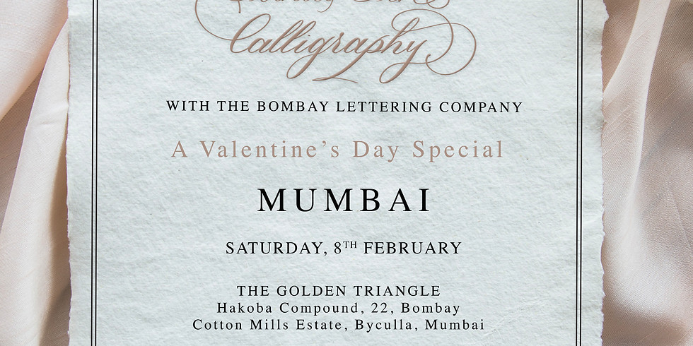 Introduction to Pointed Pen Calligraphy - VDay Special! Mumbai